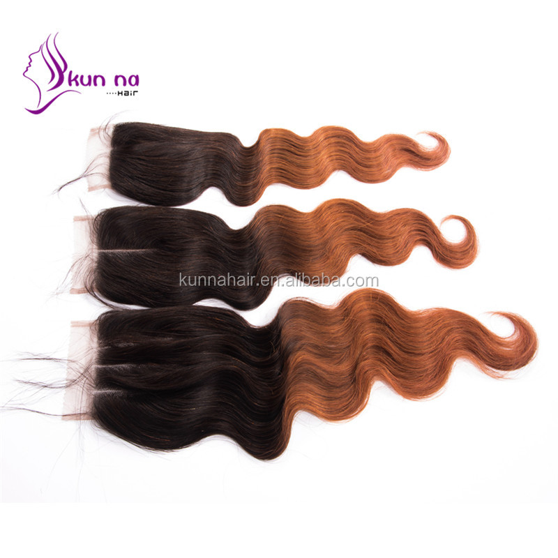 linyi kunna virgin indian hair lace closure body wave hair weave extension for your beauty