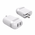 Elite Dual Port 24W USB Travel Wall Charger PowerPort 2 with PowerIQ and Foldable Plug, for iPhone 7 / 7 Plus / 6s / 6s Plus
