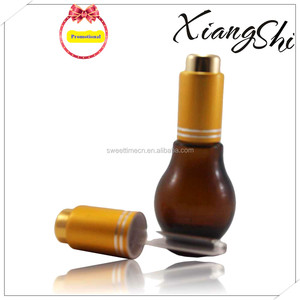 amber/brown glass dropper bottle for essential oil