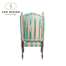 Shock price wood frame armchair french style wooden leisure chair