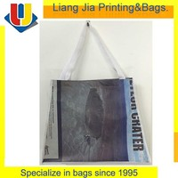 New Design Promotional Recycle PET RPET Carrier Tote Bag Online Shopping