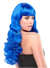 Fashion style party wig Blue Synthetic Wig For Woman