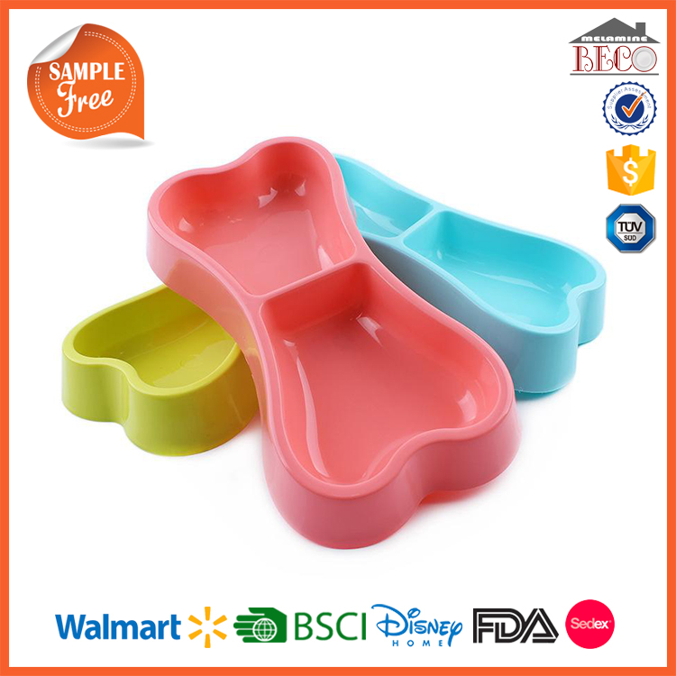 Custom Printed Wholesale Plastic Melamine Dog Dish