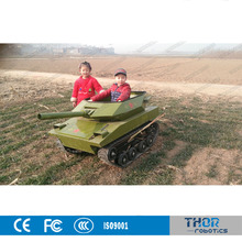 Big Seat Children C6615 Tank Car In Playground Quality Warranted Tanks Car For Amusement Park Ride-on Kids Electric Tank Car