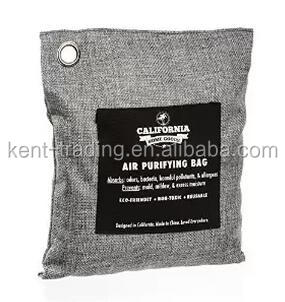 California Home Goods Naturally Activated Bamboo Air Purifying Bag, Charcoal Color, 500g