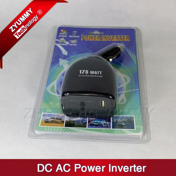 175w auto dc ac power inverter in car power converter with USB