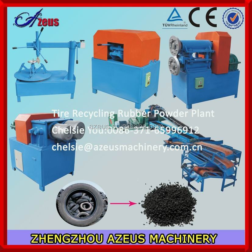 Rubber crumbs making machine / waste tire recycling rubber powder machine