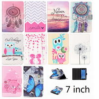 Print pattern Wallet universal 7 inch tablet leather case Stand Cover For Android Tablet PC PAD tablet 7 inch Accessories