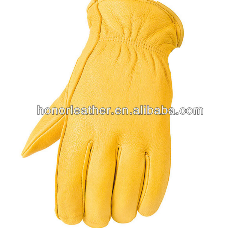Raider Insulated Premium Deerskin Leather Gloves with Keystone Thumb