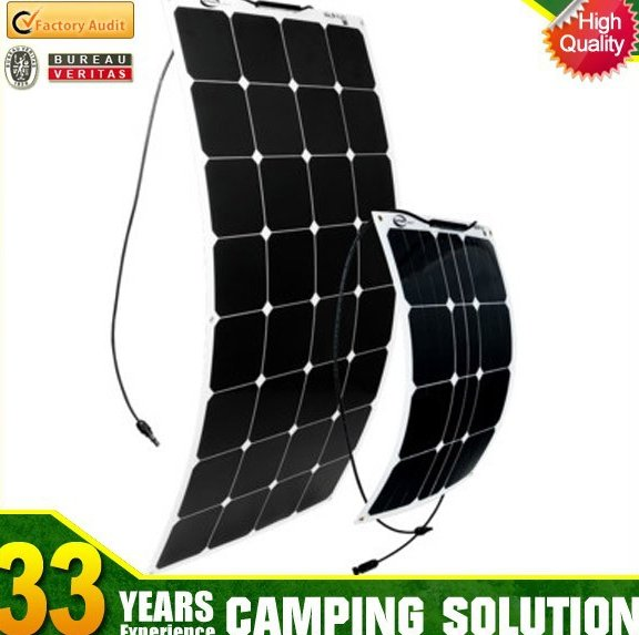 250w Flexible Solar Panel with Battery Charger