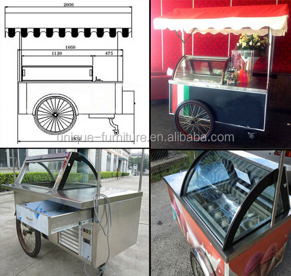 2015 fast food tricycle,coffee vending cart,coffee bike