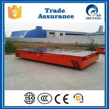 KPD Industry Factory Workshop Transfer Electric Rail Flat Truck for sale