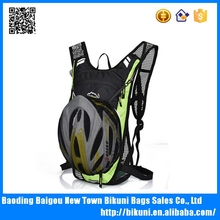 Helmet pocket sport outdoor hiking travel men and women hydration backpack waterproof nylon bicycle backpack with cheap price