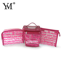 Wholesale promotional custom logo printed pvc zipper waterproof pouch clear cosmetic make up bag women bags