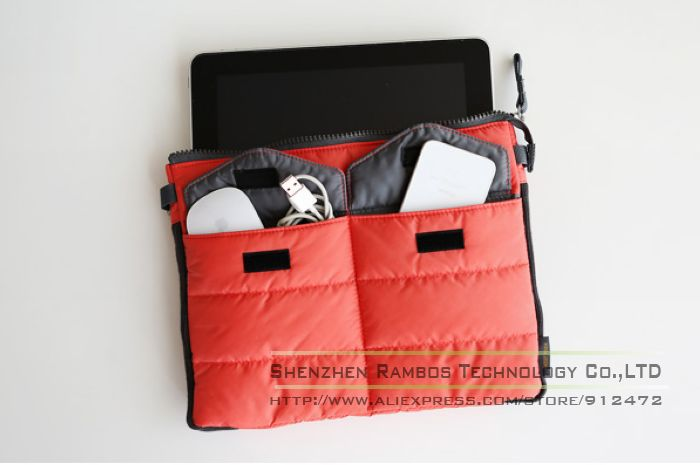 Bag in Bag Handbag Organizer Insert Tidy Pouches Bags Cases Cover for iPad 2 3 4 5
