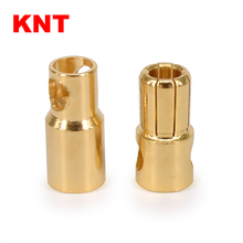 female male 6.0mm gold plated bullet banana plug Brass material battery connector