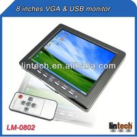 China supplier 8 inch touch screen tv / pc monitor with VGA USB