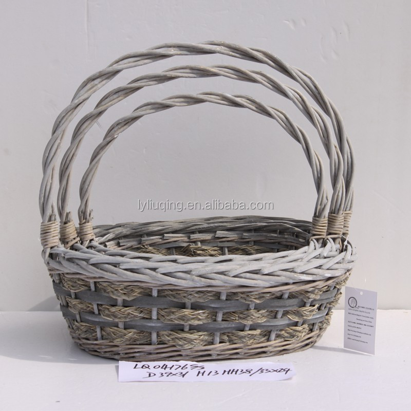 Cheap handmade gift baskets empty oval gift baskets made in CHINA