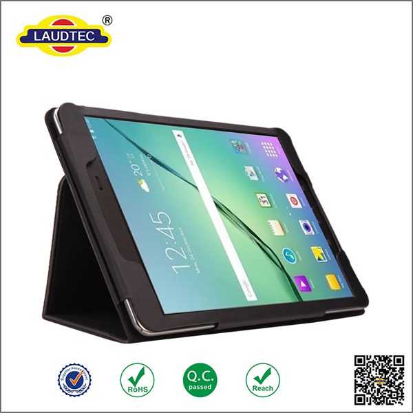 "Smart Tablet Two-Fold Stand Magnet Leather case cover For Samsung Galaxy Tab S2 9.7"" -----Laudtec"