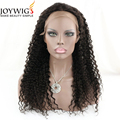 Factory new design 10A grade natural Color jerry curly Indian Human Hair full lace Wig