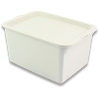 pretty cute white plastic storage boxes with lid