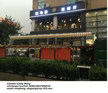 Large size Projection size more than 3.5M Motorized coffee shop awning