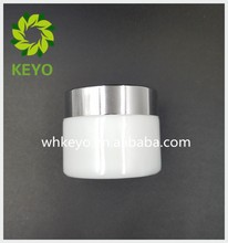 High quality 50g ceramic jar empty glass cosmetic jar wholesale