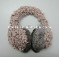 2012 fashion lovely knit earmuff with special yarn