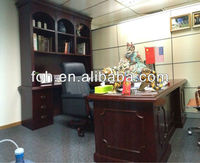 USA customized popular U shaped office desk with hutch (FOHUS-D-1)