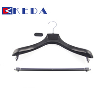 Multi metal hook rack Customized logo 2 piece set plastic clothes laundry hanger