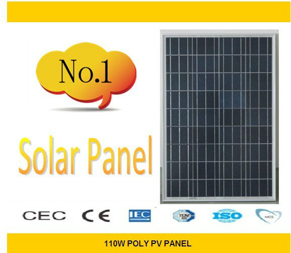 110w poly PV solar panel / solar cell