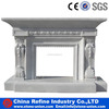 Decorative White Marble Fireplace