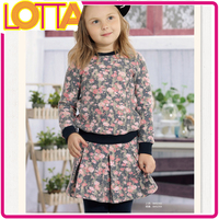 2015 fashion wholesale flower children's clothing sets for baby girls