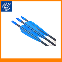 Factory wholesale bow arrwo black aluminum arrow with plastic archery shooting for hunting