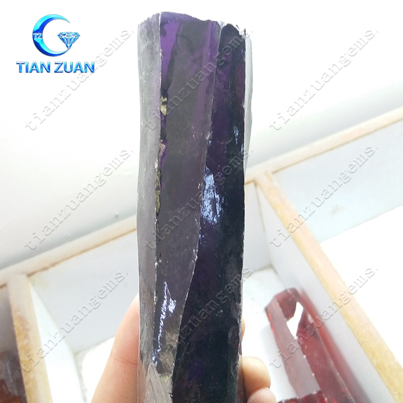 rough amethyst color uncut cubic zirconia for raw material
