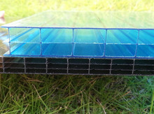 Clear polycarbonate hollow sheet triple layer anti-drop polycarbonate sheet with UV protection using for greenhouse