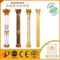 Indoor Middle East style Hotsell plastic my order wedding flower pillar for villa