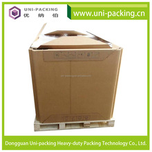 1 Ton Container Folded Square Liquid Cardboard Paper IBC Container For Sugar Syrup