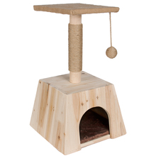 wholesale new durable natural cat scratcher house