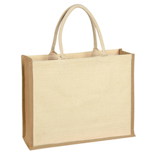 China Manufacture Free Sample Fashion Style Custom Jute Tote Shopping Bag Promotional Jute Bag