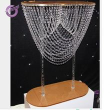 HS00640 wedding acrylic chandelier swag table centerpieces stand