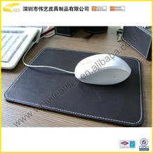 Black Custom Bonded Mouse Pad, Leather Mose Mat