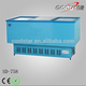 Commercial large capacity freezer for frozen food with aluminum alloy case frame edge