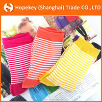 wholesale high quality pure cotton color stripe sex girl socks,children socks