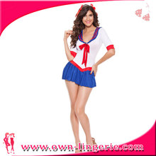 Sexy short white and blue halloween costume female sailor costume Sexy Sailor Moon costume