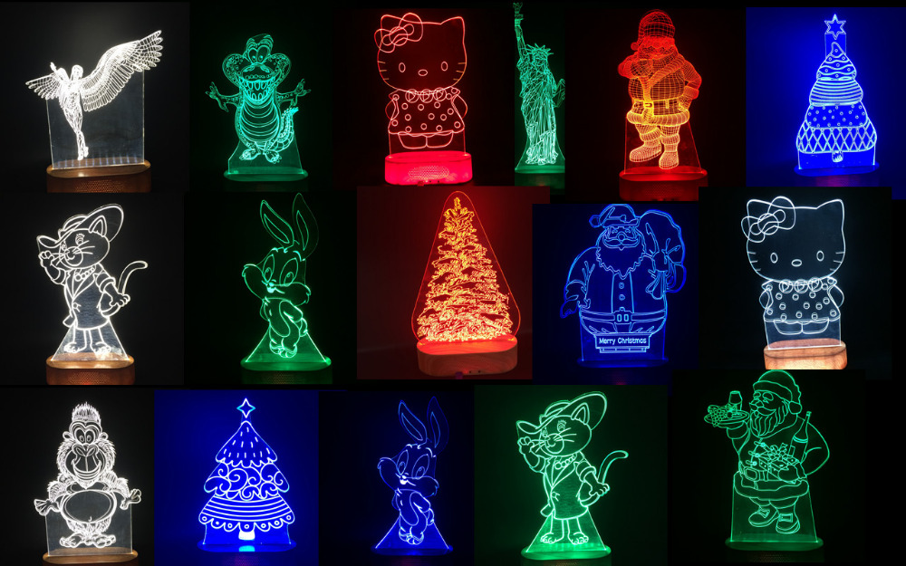 Magic Illusion Light Unique LED 3D Night Light With Fancy Design