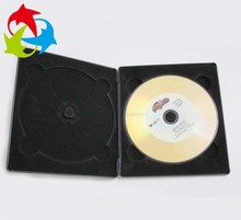 Wholesale double cd jewel case with tray flocking black plastic blister packaging