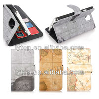 world map Leather Tpu Case for Samsung Galaxy Note 3