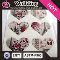 custom self-adhesive heart shape decal cap seal label sticker
