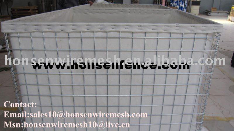 THE REAL FACTORY) Galvanized Hesco Barrier for protection (Mil1 - Mil10)